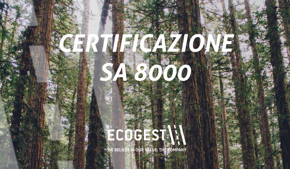 Ecogest ottiene la certificazione SA 8000, che ne attesta la responsabilità sociale d'impresa