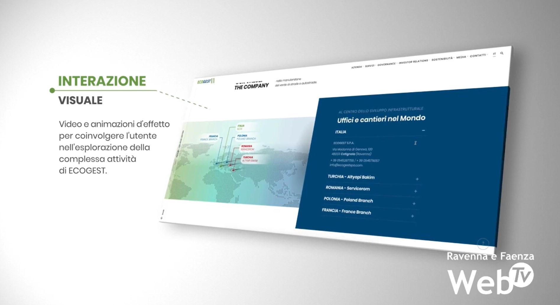 Il direttore generale Piero Torchi presenta il nuovo sito di Ecogest su Ravenna WebTv